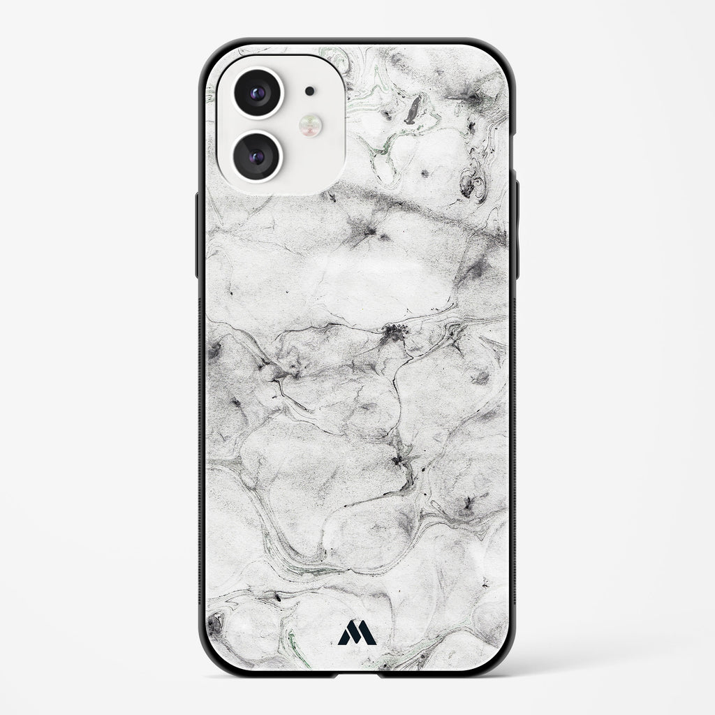 White Ash Marble Glass Case Phone Cover