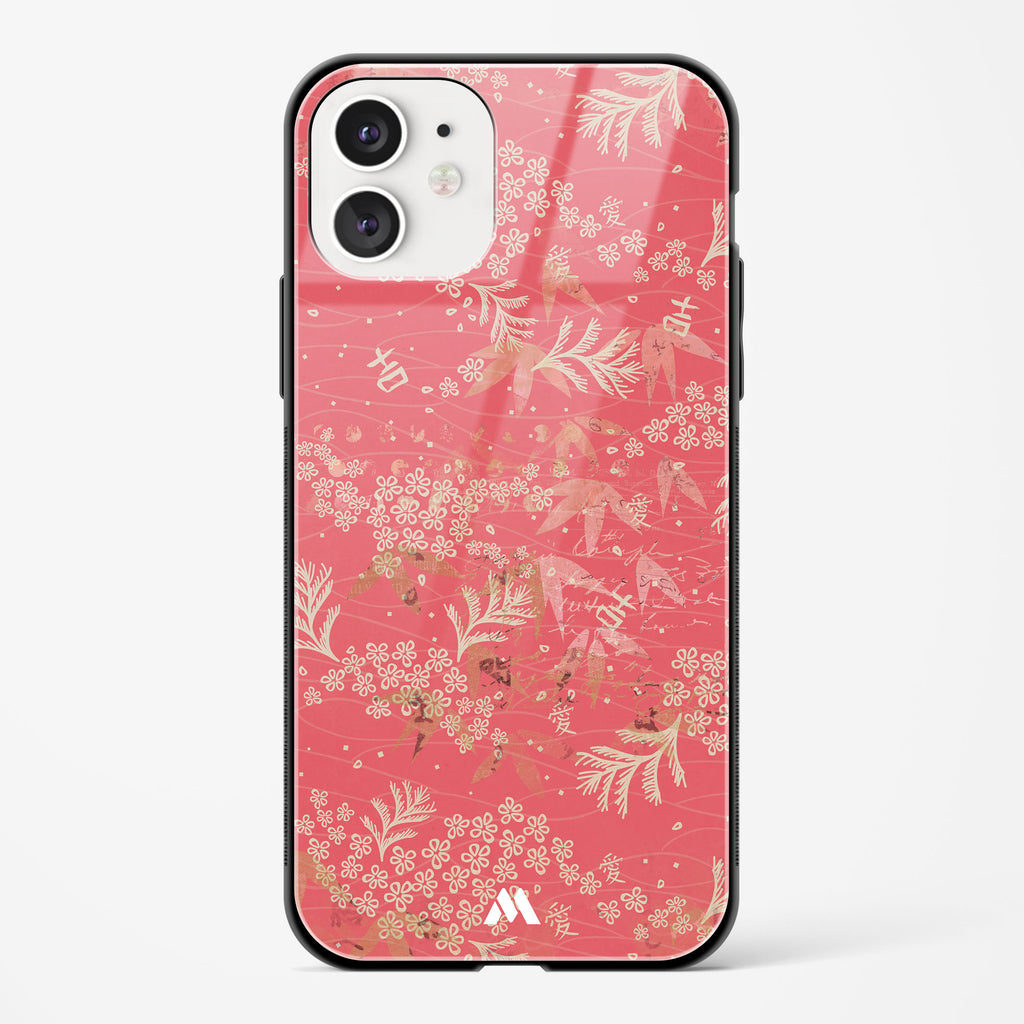 Blooming Cherry Blossoms Glass Case Phone Cover
