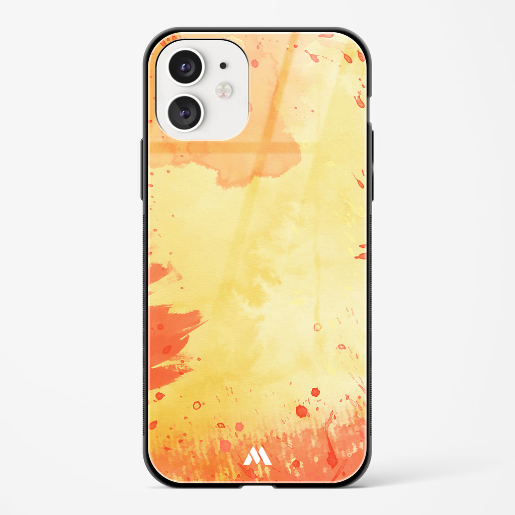 Aflame in Watercolours Glass Case Phone Cover
