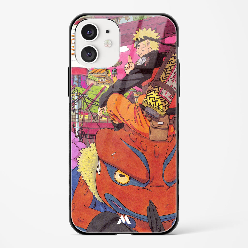 Naruto and Gamakichi Glass Case Phone Cover