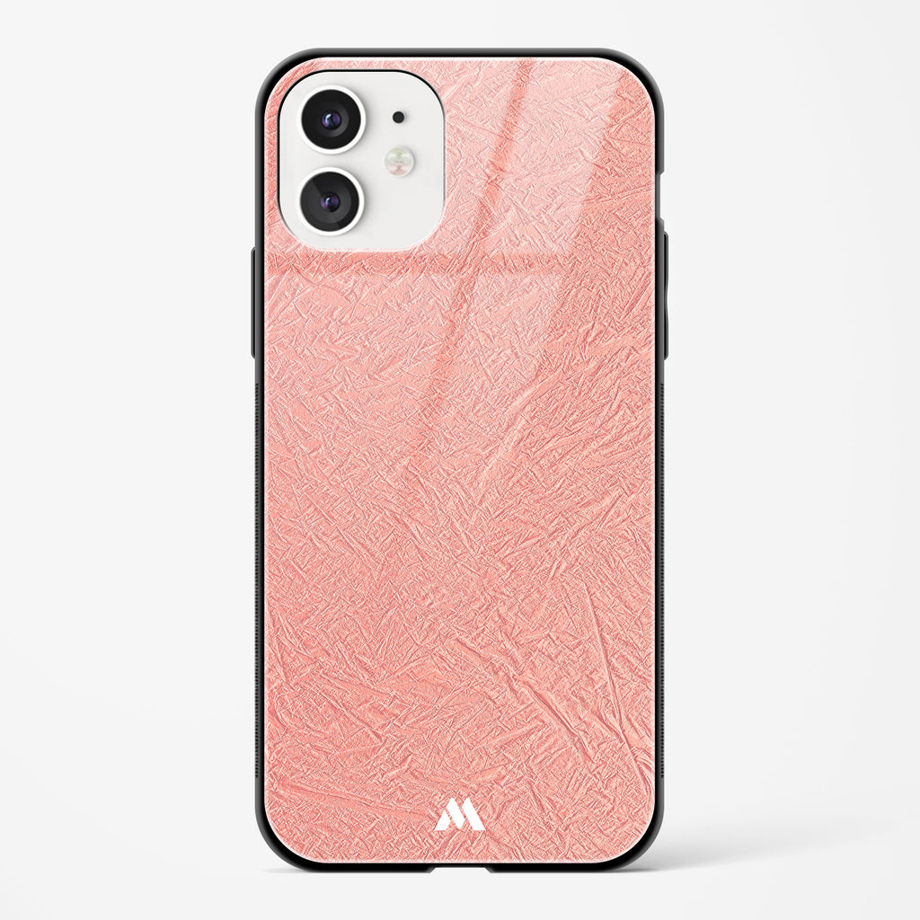 Rose Gold Fossil Traces Glass Case Phone Cover