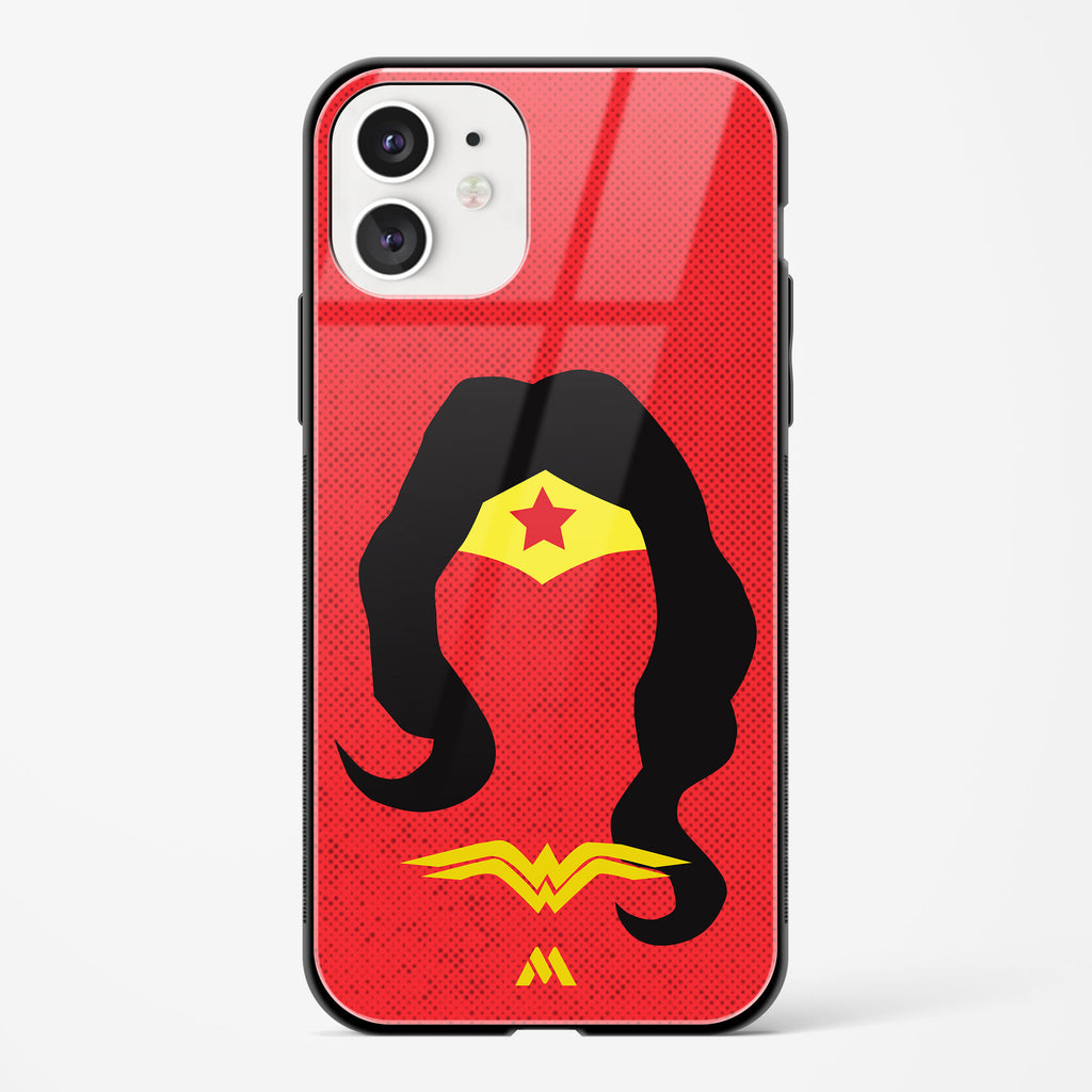 Wonder Woman Silhouette Glass Case Phone Cover