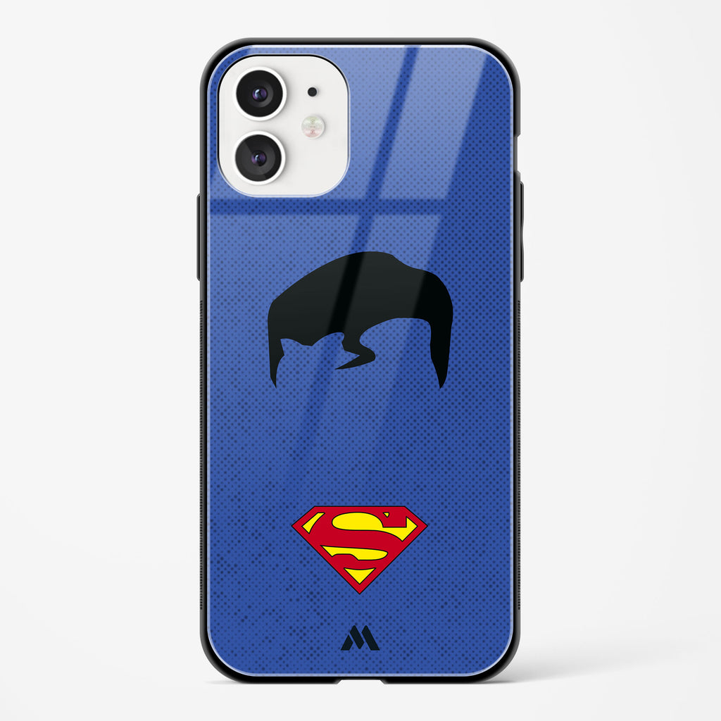 Superman Silhouette Glass Case Phone Cover