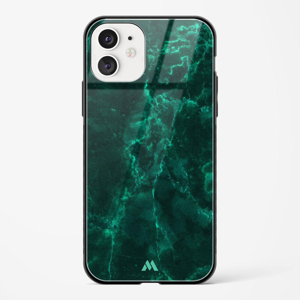 Olive Riddle Marble Glass Case Phone Cover