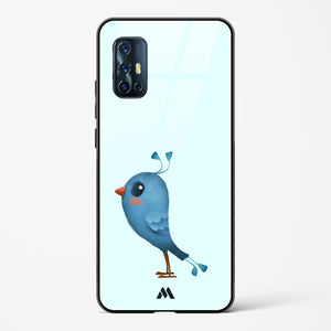 Blue Jay Morning Glass Case Phone Cover