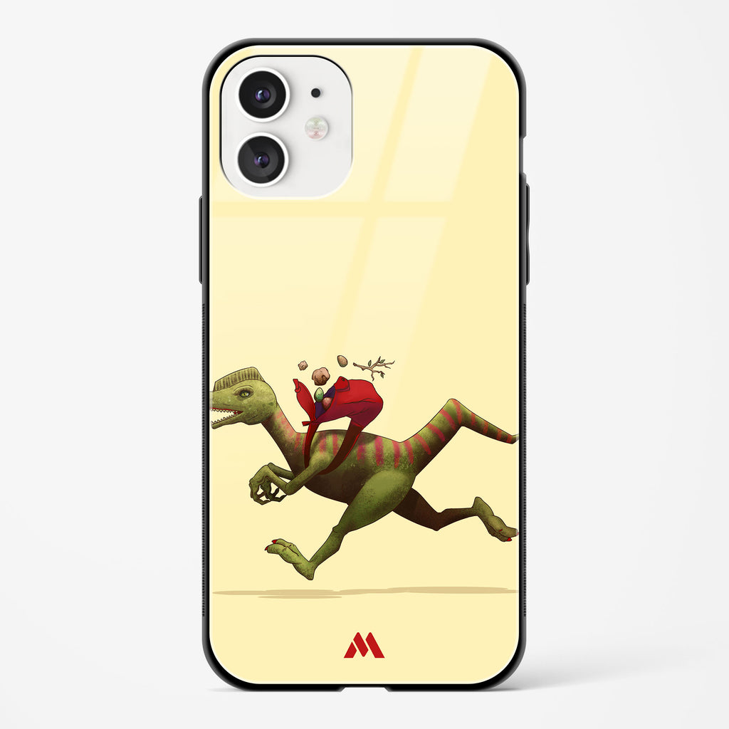 Raptor Running Late Glass Case Phone Cover