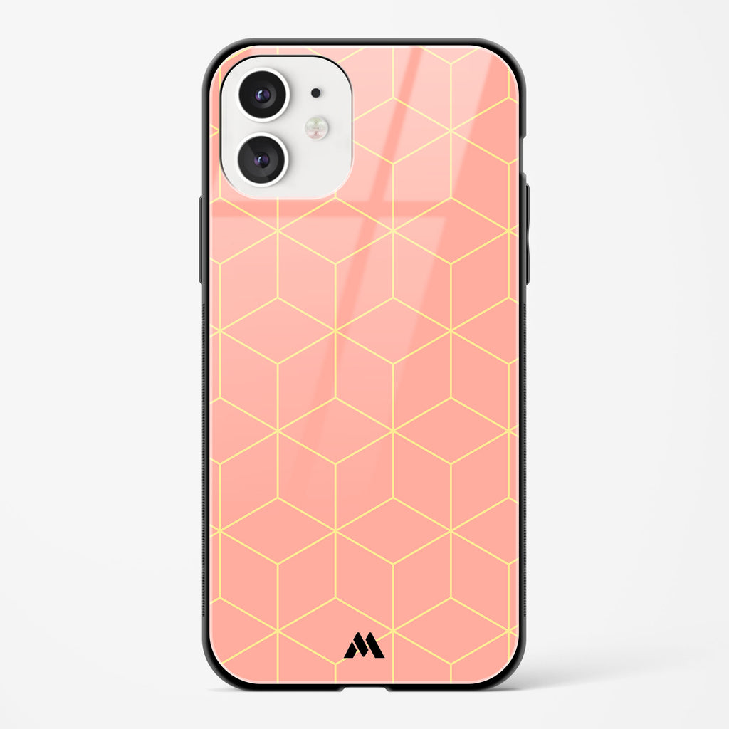 Hexagon Fortress in Pink Glass Case Phone Cover