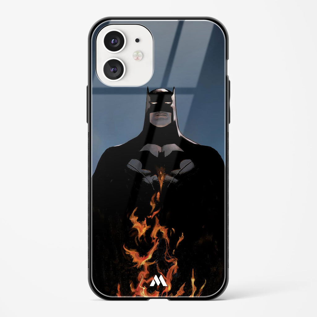Batman Up In Flames Glass Case Phone Cover