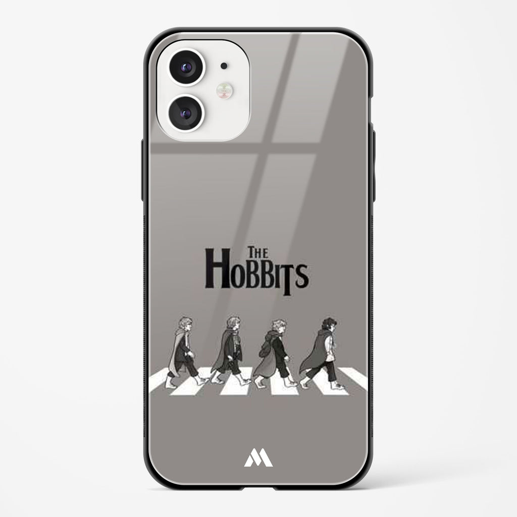 Hobbits at the Abbey Road Crossing Glass Case Phone Cover