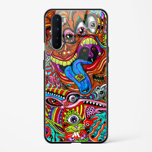 Psychedelic Monster Art Glass Case Phone Cover