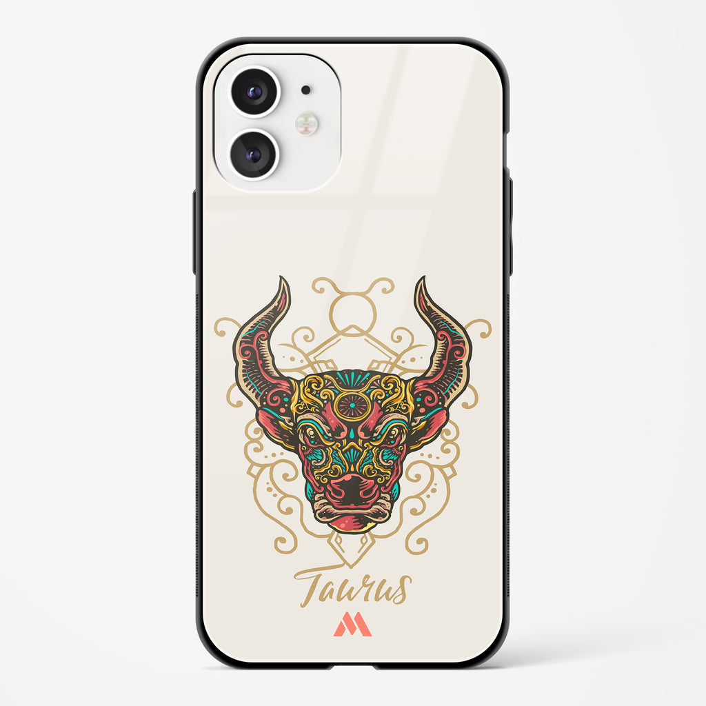 Taurus Hand Drawn Glass Case Phone Cover