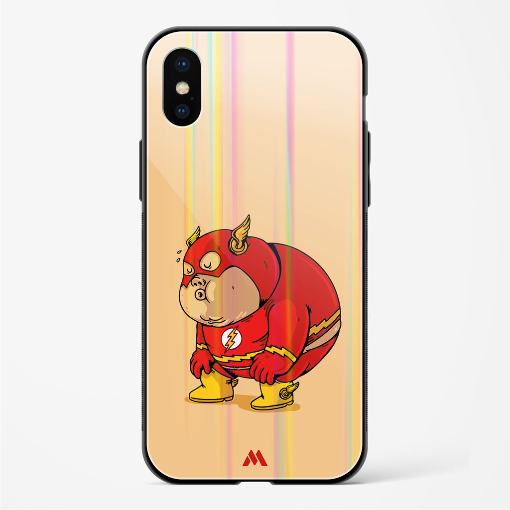 Fat Flash Holographic Glass Case Phone Cover