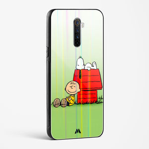 Charlie Brown Day Off Holographic Glass Case Phone Cover