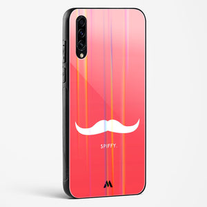 Spiffy Moustache Holographic Glass Case Phone Cover