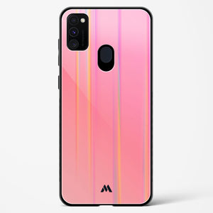 Peach Gradient Holographic Glass Case Phone Cover