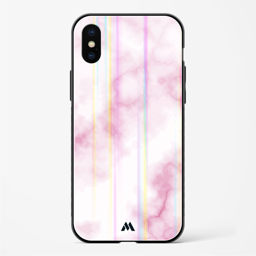 Coral Marble Shelves Holographic Glass Case Phone Cover