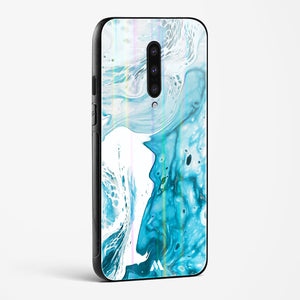 Blue Tourmaline Marble Holographic Glass Case Phone Cover
