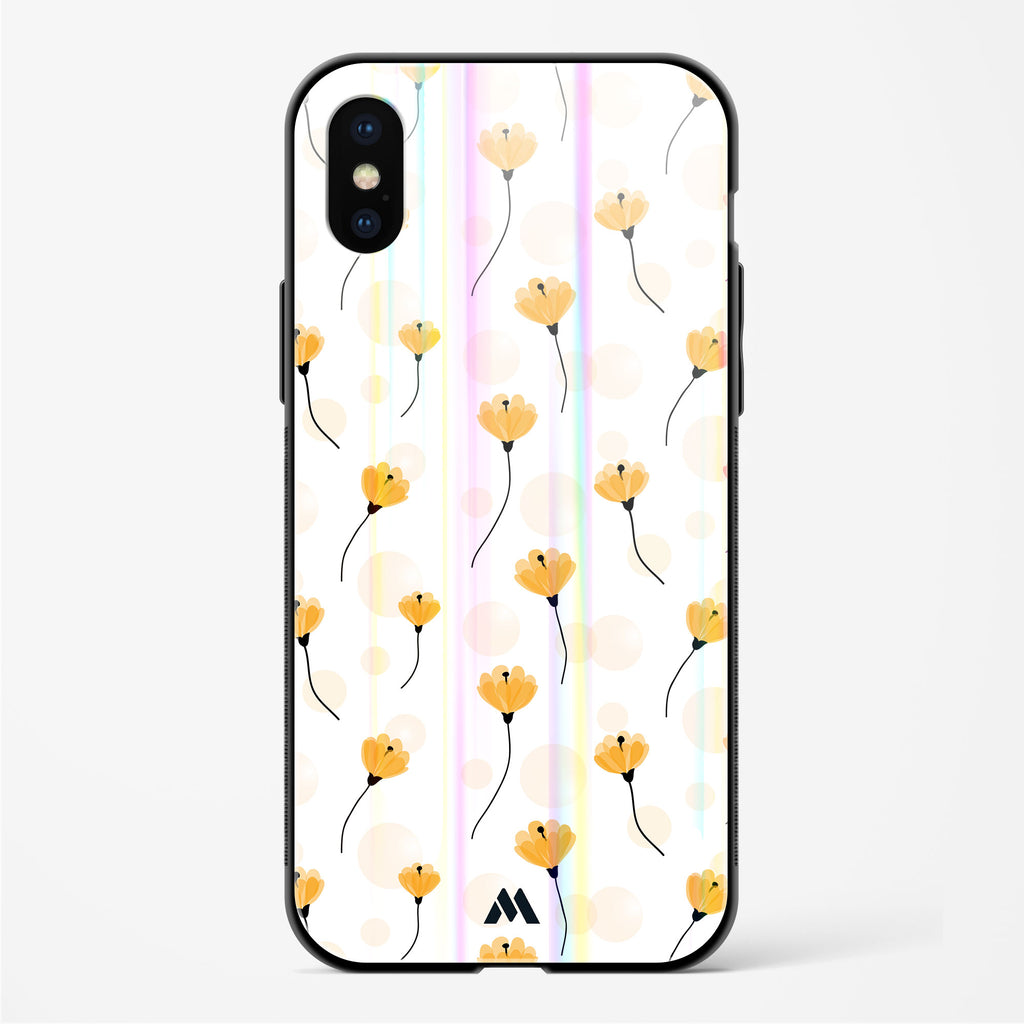 Daffodil Stems Holographic Glass Case Phone Cover