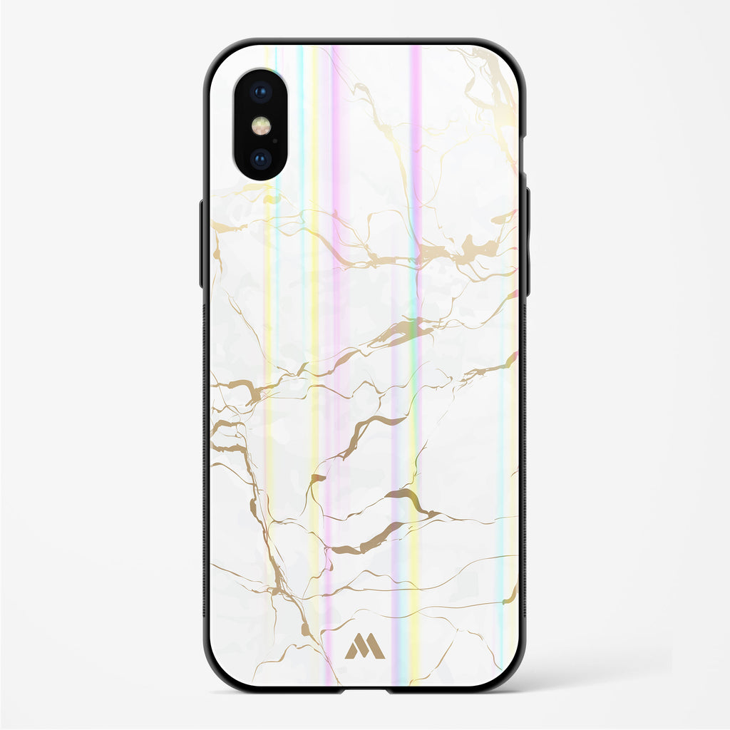 Stattvario Marble Holographic Glass Case Phone Cover