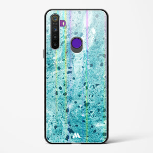 Green Jade Marble Holographic Glass Case Phone Cover
