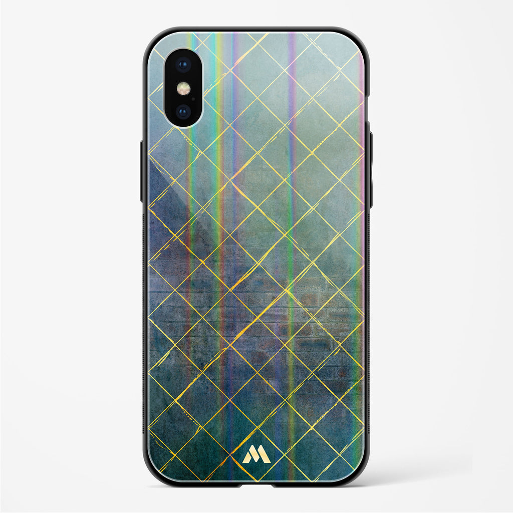 Checks and Crosses Holographic Glass Case Phone Cover