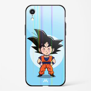 Dragonball Z Chibi Goku Holographic Glass Case Phone Cover
