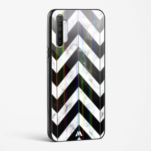 Warrior Stripe Marble Holographic Glass Case Phone Cover