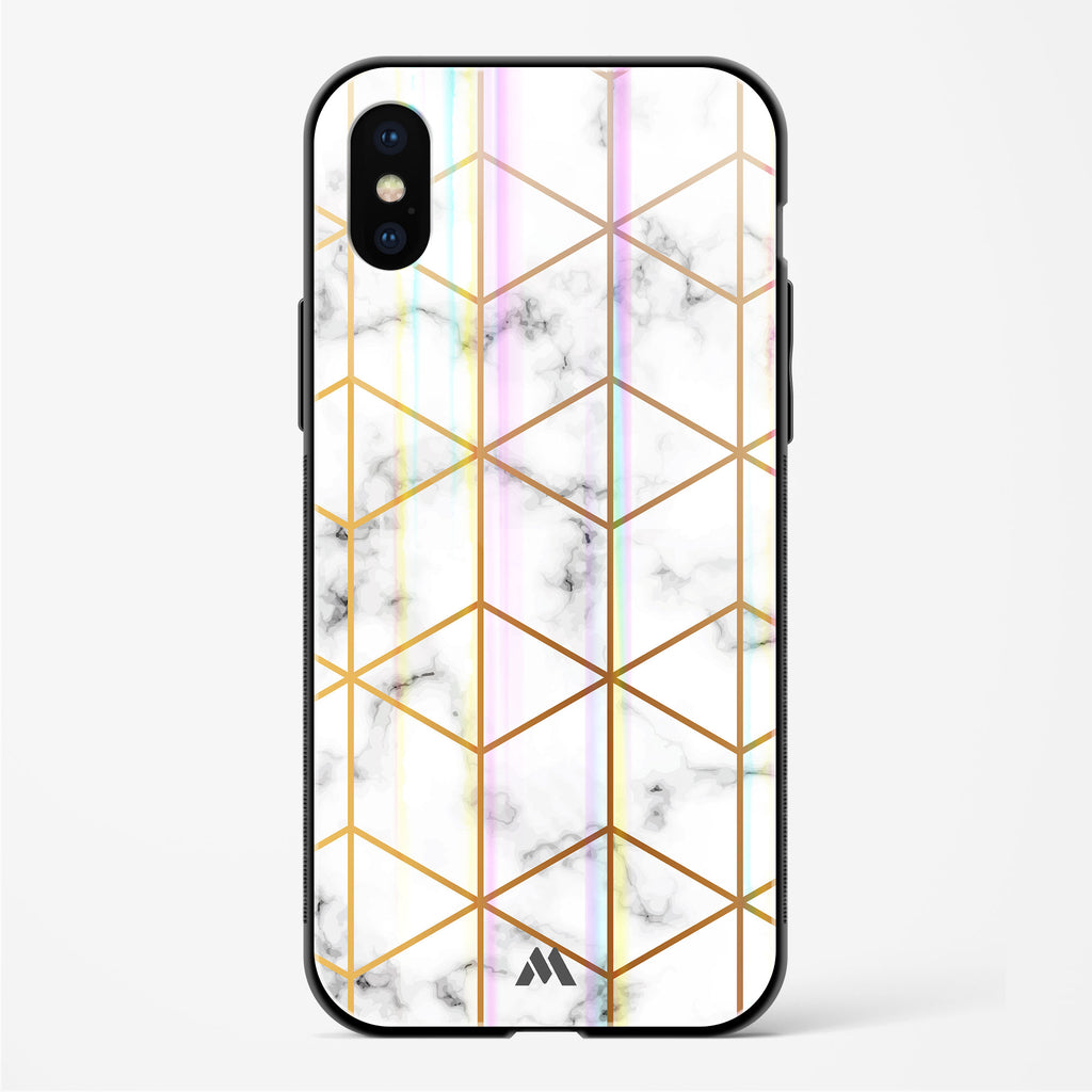 Cloud Renaissance Marble Holographic Glass Case Phone Cover