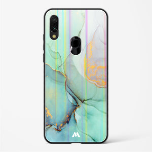 Green Shale Marble Holographic Glass Case Phone Cover