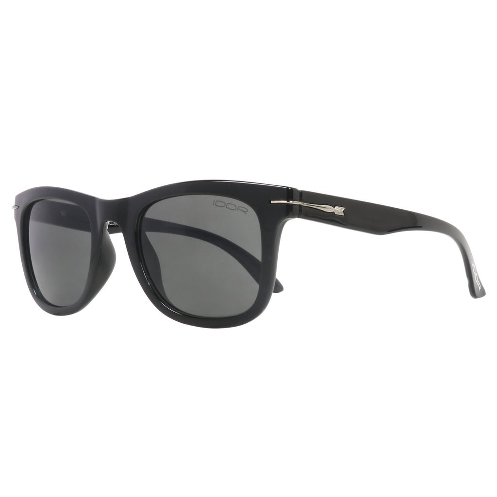 Dark Warrior Unisex Black Rectangular Shell Sunglasses (ID11010 C2)