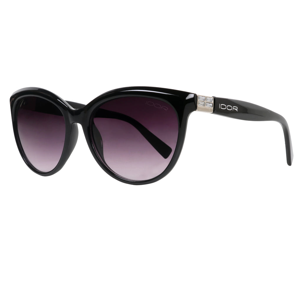Sceptre of Darkness Black Gradient Rectangular Shell Sunglasses (ID11016 C1)