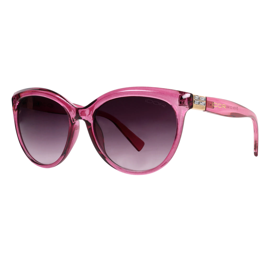 Perfectly Poised Women's Pink Gradient Cat-Eye Shell Sunglasses (ID11016 C3)