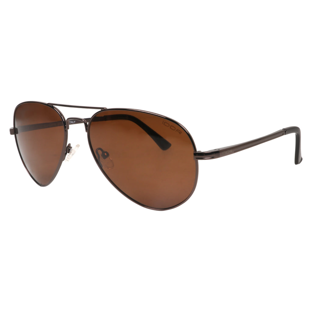 Havana Holiday Aviators - Unisex Brown Sunglasses (ID5019 C4)