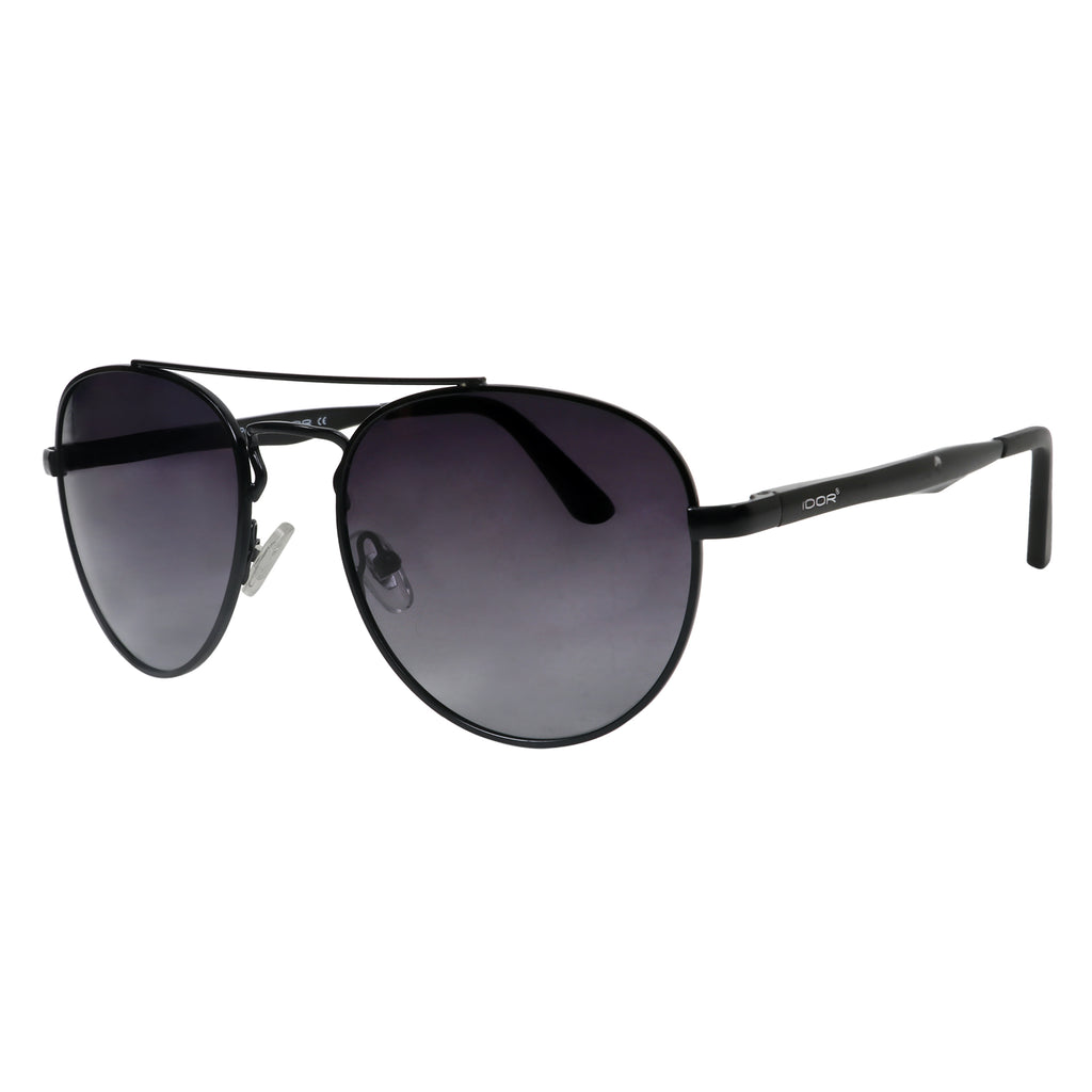 Blizzard Wizard Unisex Gradient Black Oval Metal Sunglasses (ID5508 C01)