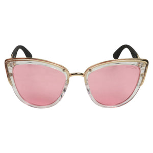 Cosmo in Hand Women's Pink Cat-Eye Shell Sunglasses (ID11013 C3)