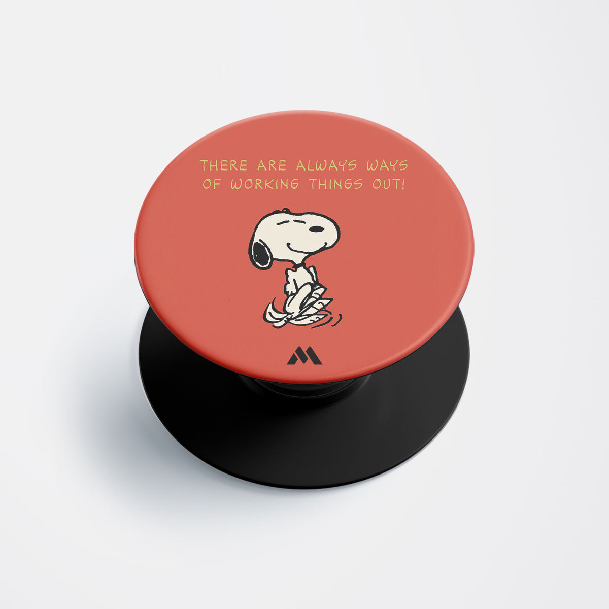 Snoopy Work Things Out Pop Holder