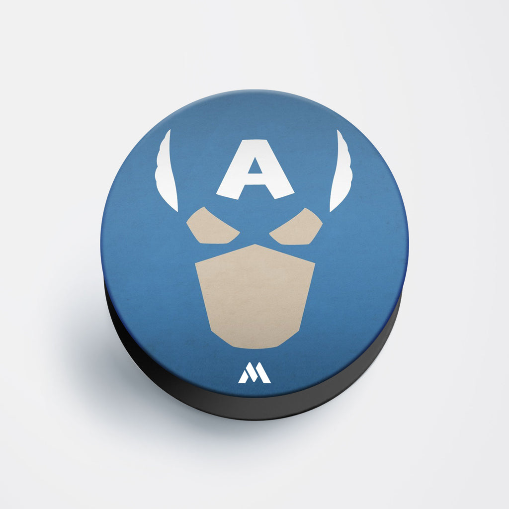 Captain America Helmet Silhouette Pop Holder