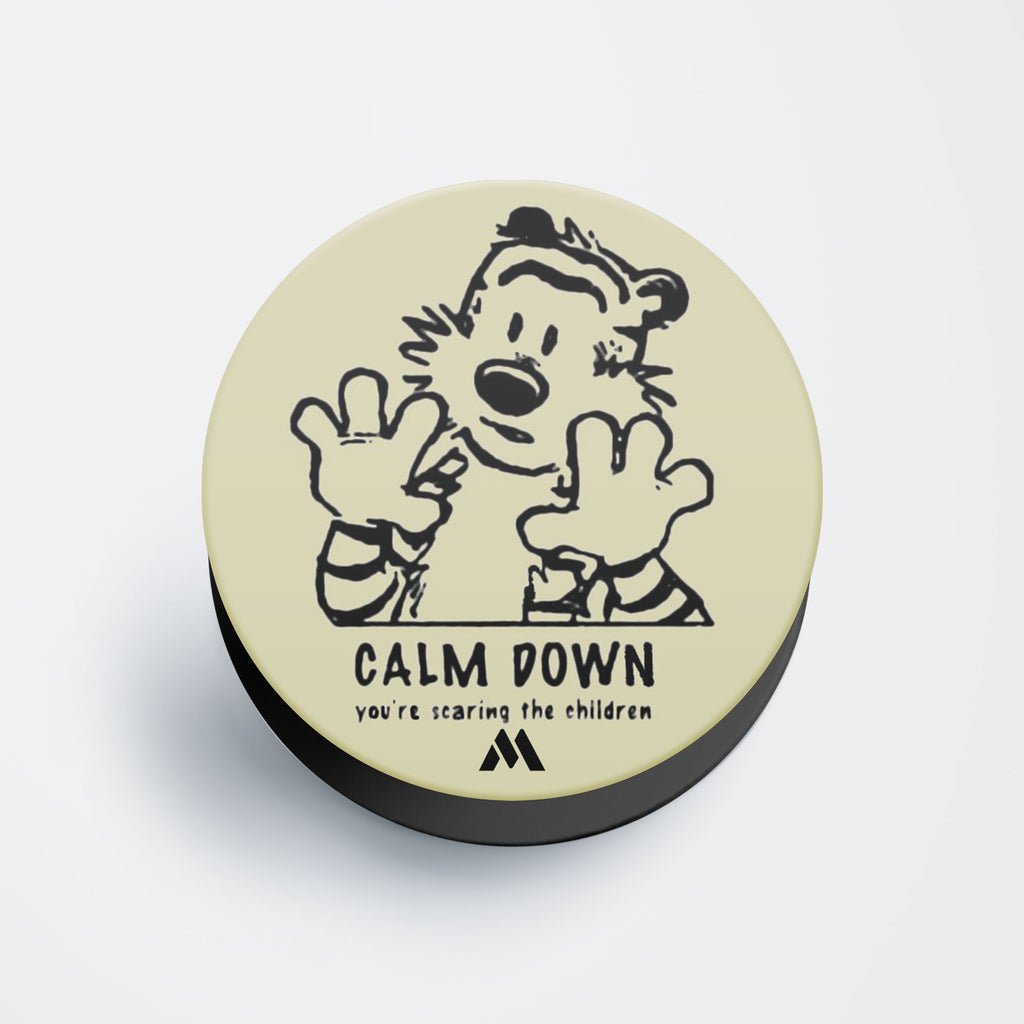 Calm Down You Are Scaring The Children Pop Holder
