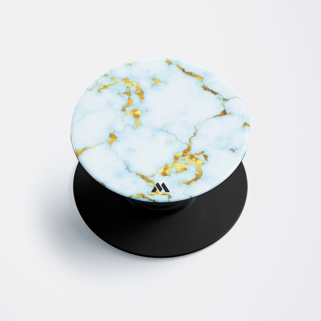 White Gold Marble Pop Holder