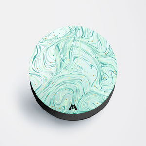Green Mint Marble Confetti Pop Holder