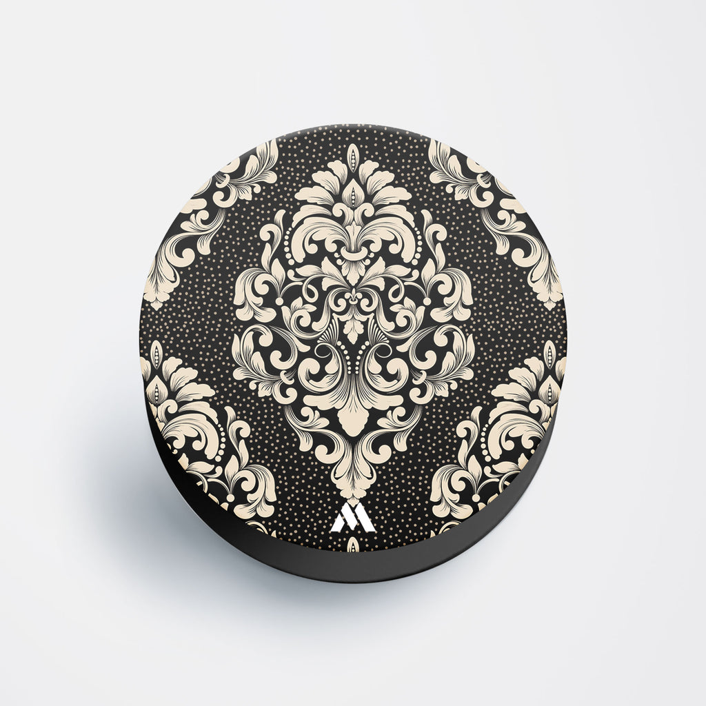 Mandala Flowers White Pop Holder