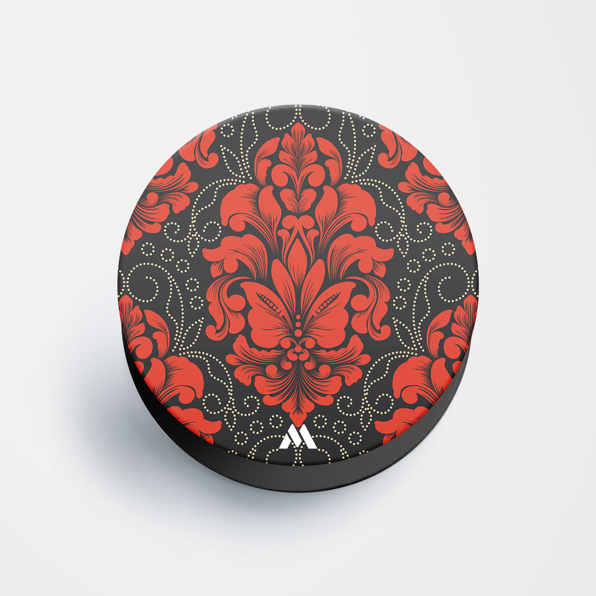 Mandala Flowers Red Pop Holder