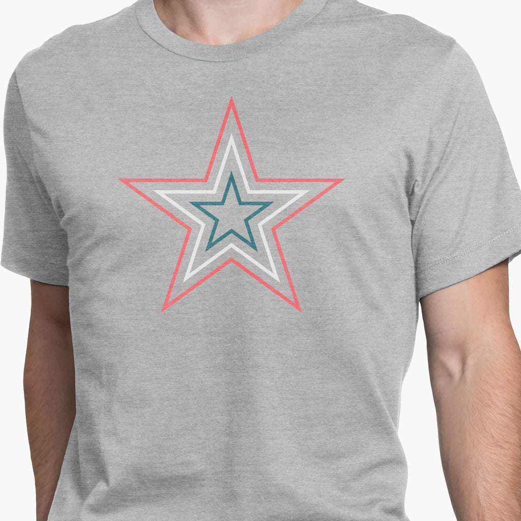 Geometric Five Point Star Round-Neck Unisex T-Shirt