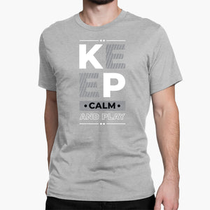 Keep Calm and Play (Light) Round-Neck Unisex T-Shirt
