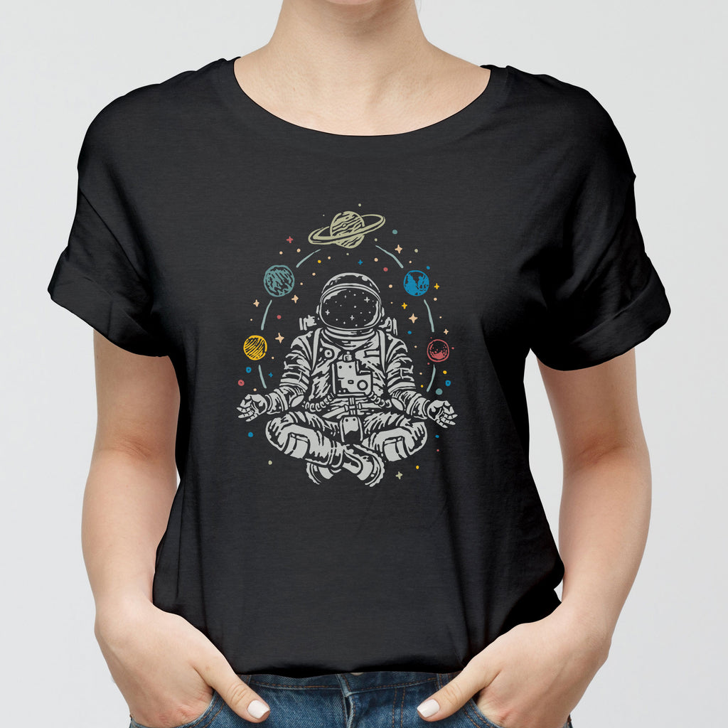 Meditating on the Universe Round-Neck Unisex T-Shirt