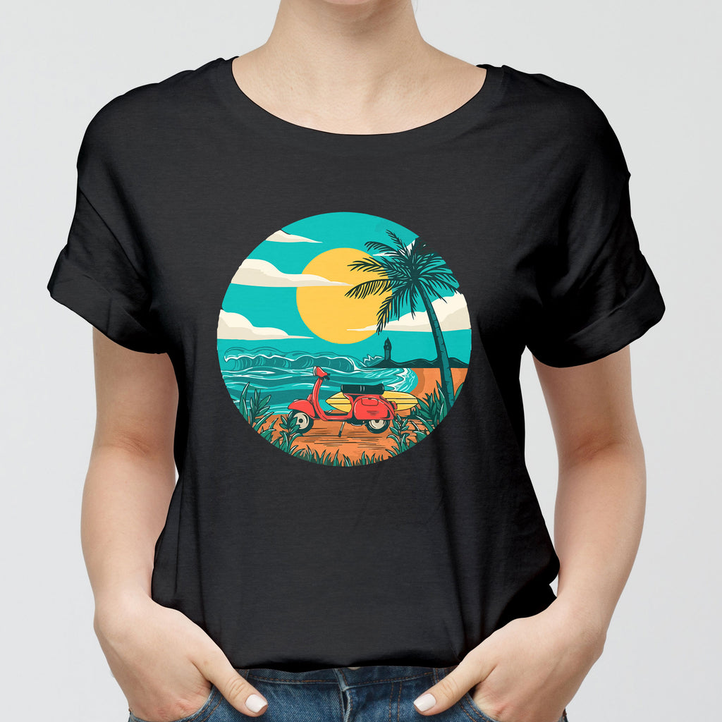 Italian Beach Evenings Round-Neck Unisex T-Shirt