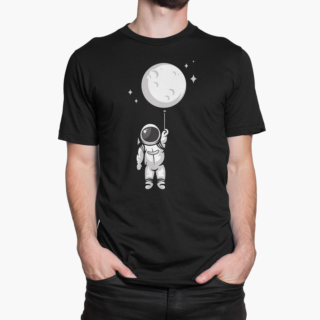 Moon Balloon Round-Neck Unisex T-Shirt
