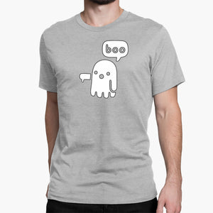 Ghostly Boo Round-Neck Unisex T-Shirt