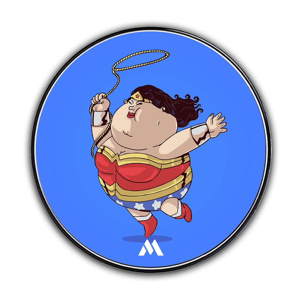 Fat Wonder Woman Designer Wireless Charger Pro