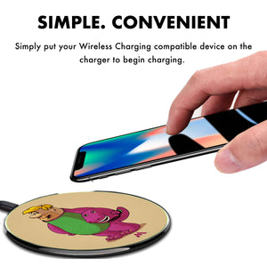 Barney the Purple Dinosaur Designer Wireless Charger Pro